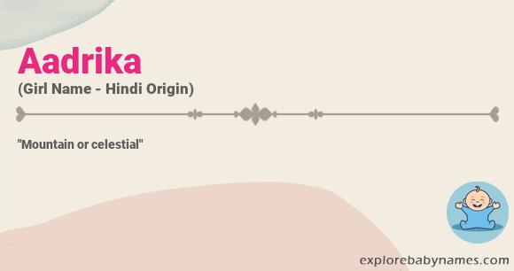 Meaning of Aadrika