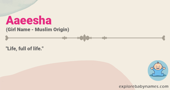 Meaning of Aaeesha