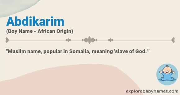 Meaning of Abdikarim