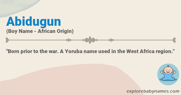Meaning of Abidugun