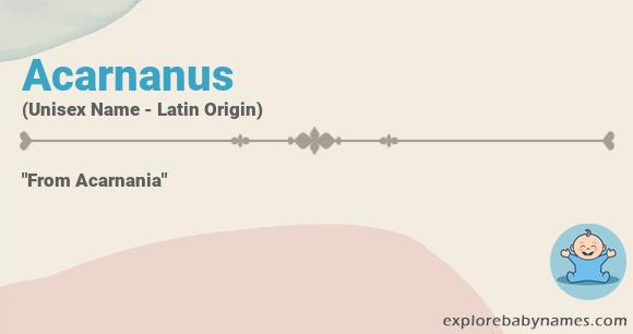 Meaning of Acarnanus