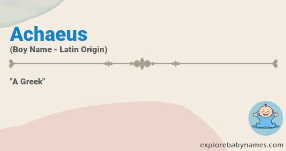 Meaning of Achaeus