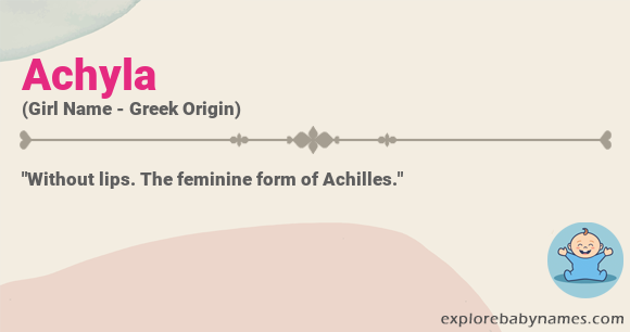 Meaning of Achyla