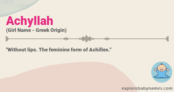 Meaning of Achyllah