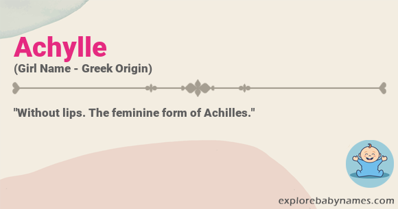 Meaning of Achylle