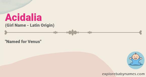 Meaning of Acidalia