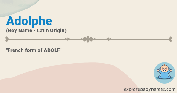 Meaning of Adolphe